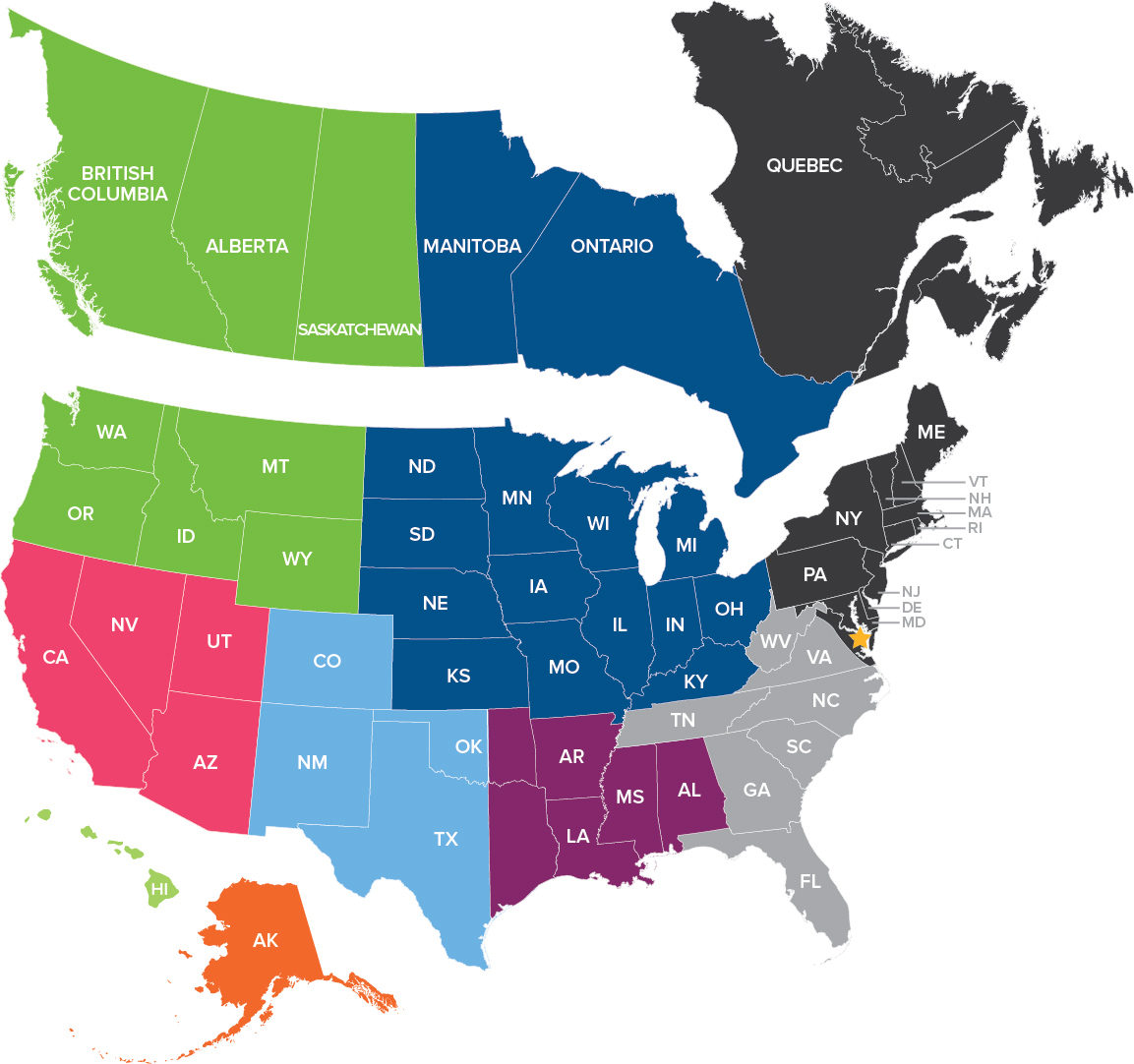 SPI Sales Map Territories