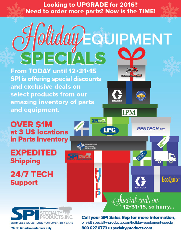 Equipment-Holiday-Special for SPI Specialty Products Inc