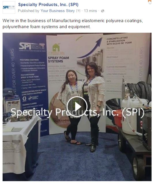 FB Video - Specialty Products Inc