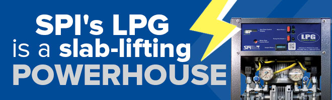Slab Lifting Banner Graphic